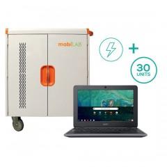 30-Unit Acer 11 N7 C731 Chromebook & Cart Bundle (USA Only)