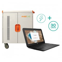 30-Unit HP Chromebook 11 G5 EE & Cart Bundle (USA Only)