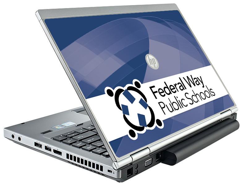 FederalWaySD210_HP8460_Mockup_VinylSkin School Branding