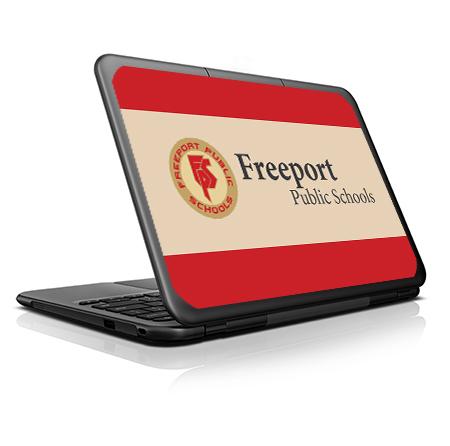 FreeportSD_Lenovo_N22_Mockup_VinylSkin School Branding