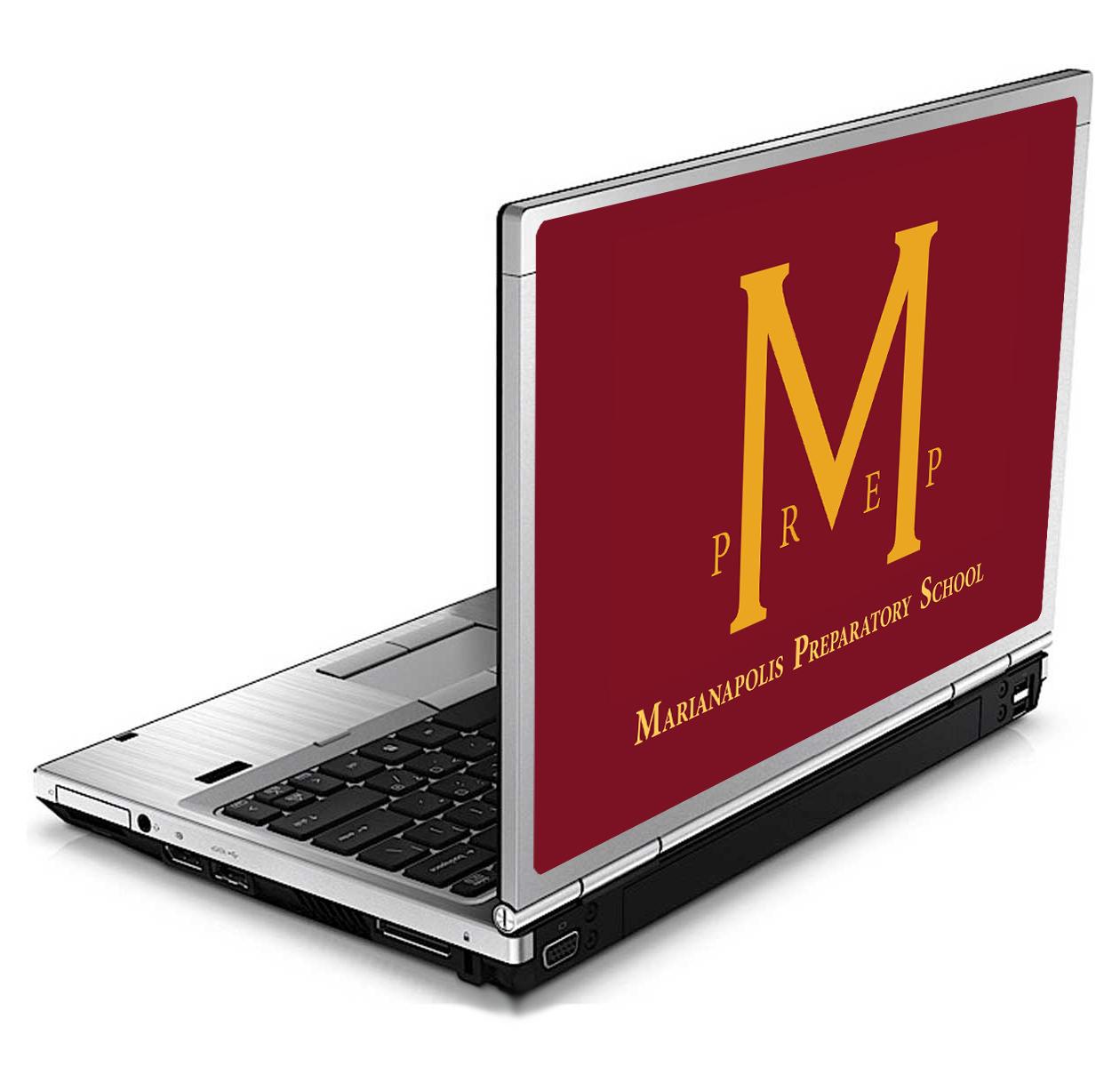MarianapolisPrepSchool_HP8460p_Mockup_VinylSkin School Branding
