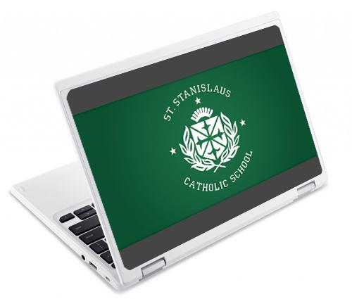 St.StanislausCatholicSchool_Acer_ChromebookR11_UV_Printing School Branding
